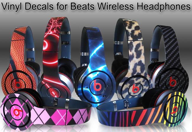 Monster Beats Wireless Skins Vinyl skulls designs 643c03d9a